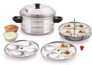 BMS Lifestyle 4-Plates Stainless Steel Idly Maker -Cooker