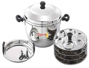 Pigeon-Hot 24 Idly Pot with Steamer