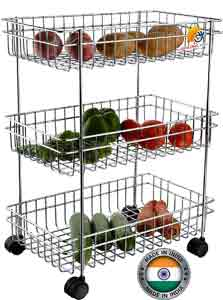 AMAZING MALL Stainless Steel Multipurpose Storage Shelf, Kitchen Rack