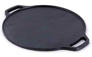 ROSTON Pre-Seasoned Cast Iron Dosa Tawa Pan