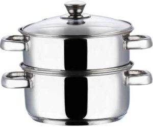 Vinod Stainless Steel 2 Tier Steamer with Glass Lid