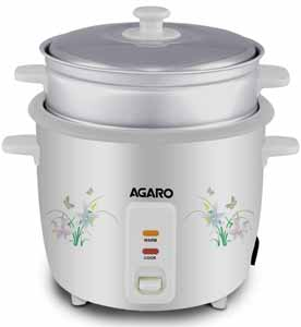 AGARO Rice Cooker with Steam Pot