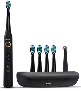 AGARO COSMIC PLUS Sonic Electric Tooth Brush For Adults With 5 Modes, 5 Brush Heads