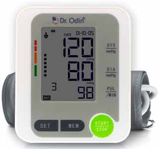 Dr Odin Fully Automatic Digital Blood Pressure Machine With Large LCD Display And Oscillometric Method