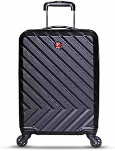 Swiss Gear ABS 55 cms Black Hardsided Cabin Luggage